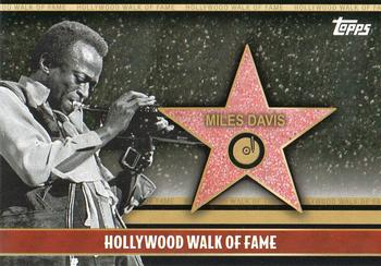 2011 Topps American Pie - Hollywood Walk of Fame #HWF-27 Miles Davis Front