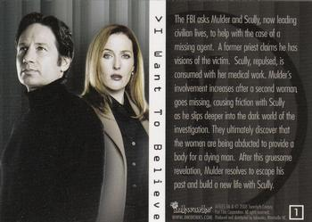 Inkworks The X Files I Want To Believe Movie Complete 72 Card Base Set