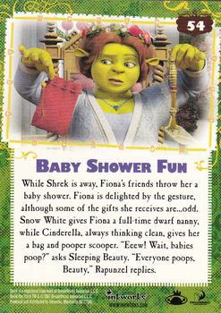 2007 Inkworks Shrek The Third #54 Baby Shower Fun Back