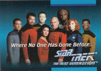 1992 Impel Star Trek Next Generation #1 Where No One Has Gone Before Front