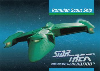 1992 Impel Star Trek Next Generation #35 Romulan Scout Ship Front