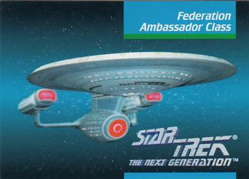1992 Impel Star Trek Next Generation #39 Federation Ambassador Class Front