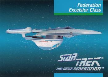 1992 Impel Star Trek Next Generation #40 Federation Excelsior Class Front