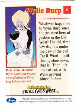 1991 Impel An American Tail Fievel Goes West #8 Wylie Burp Back