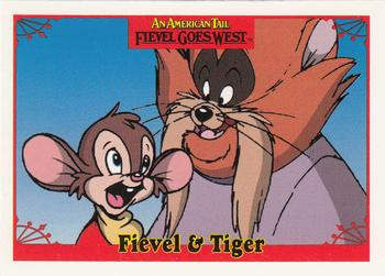 1991 Impel An American Tail Fievel Goes West #15 Fievel & Tiger Front