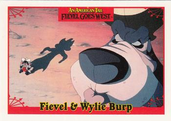 1991 Impel An American Tail Fievel Goes West #17 Fievel & Wylie Burp Front