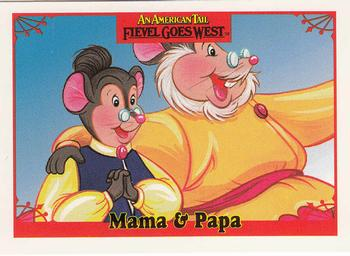 1991 Impel An American Tail Fievel Goes West #18 Mama & Papa Front