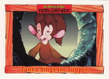 1991 Impel An American Tail Fievel Goes West #28 Tanya Sings for Supper Front