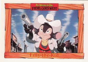 1991 Impel An American Tail Fievel Goes West #31 Filly the Kid Front