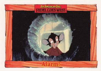 1991 Impel An American Tail Fievel Goes West #35 Alarm! Front