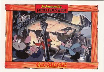 1991 Impel An American Tail Fievel Goes West #36 Cat Attack! Front