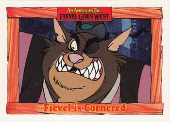 1991 Impel An American Tail Fievel Goes West #41 Fievel is Cornered Front
