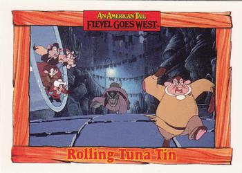 1991 Impel An American Tail Fievel Goes West #43 Rolling Tuna Tin Front