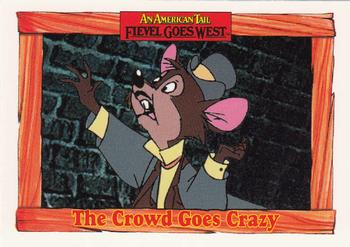 1991 Impel An American Tail Fievel Goes West #47 The Crowd Goes Crazy Front