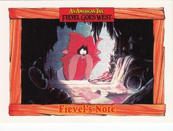 1991 Impel An American Tail Fievel Goes West #48 Fievel's Note Front