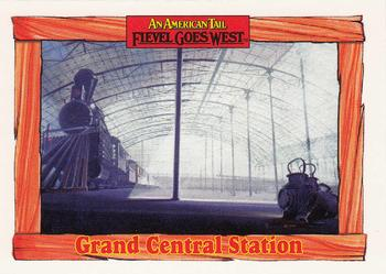 1991 Impel An American Tail Fievel Goes West #49 Grand Central Station Front