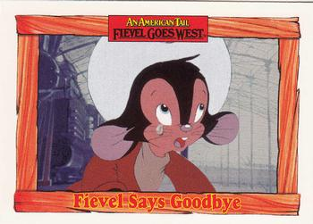1991 Impel An American Tail Fievel Goes West #50 Fievel Says Goodbye Front
