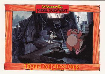 1991 Impel An American Tail Fievel Goes West #51 Tiger Dodging Dogs Front