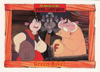 1991 Impel An American Tail Fievel Goes West #62 Green River Front