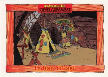 1991 Impel An American Tail Fievel Goes West #66 Indian Village Front