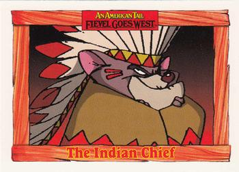 1991 Impel An American Tail Fievel Goes West #67 The Indian Chief Front