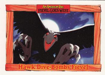 1991 Impel An American Tail Fievel Goes West #68 Hawk Dive-Bombs Fievel Front