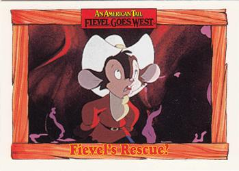 1991 Impel An American Tail Fievel Goes West #72 Fievel's Rescue? Front