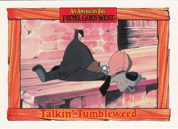 1991 Impel An American Tail Fievel Goes West #74 Talkin' Tumbleweed Front