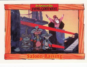 1991 Impel An American Tail Fievel Goes West #76 Saloon Raising Front