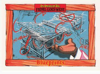 1991 Impel An American Tail Fievel Goes West #77 Blueprints Front