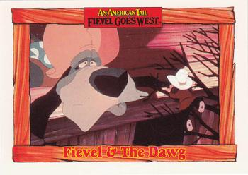 1991 Impel An American Tail Fievel Goes West #83 Fievel & The Dawg Front