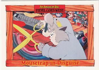 1991 Impel An American Tail Fievel Goes West #93 Mousetrap in Disguise Front