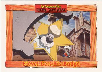 1991 Impel An American Tail Fievel Goes West #101 Fievel Gets his Badge Front