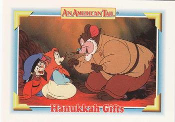 1991 Impel An American Tail Fievel Goes West #104 Hanukkah Gifts Front