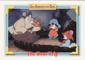 1991 Impel An American Tail Fievel Goes West #108 The Boat Trip Front