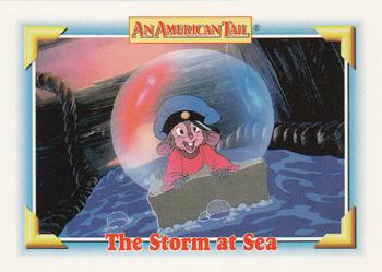 1991 Impel An American Tail Fievel Goes West #109 The Storm at Sea Front