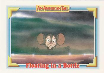 1991 Impel An American Tail Fievel Goes West #111 Floating in a Bottle Front