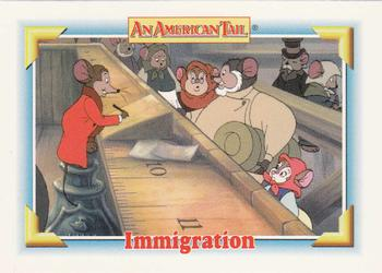 1991 Impel An American Tail Fievel Goes West #112 Immigration Front
