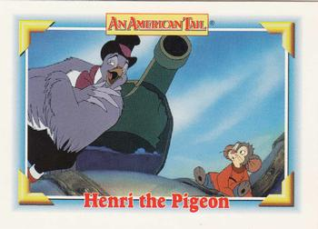 1991 Impel An American Tail Fievel Goes West #113 Henri the Pigeon Front