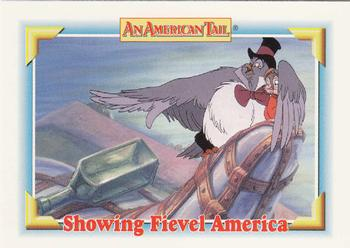 1991 Impel An American Tail Fievel Goes West #114 Showing Fievel America Front