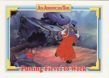 1991 Impel An American Tail Fievel Goes West #116 Putting Fievel to Work Front