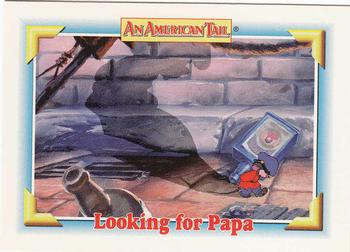 1991 Impel An American Tail Fievel Goes West #118 Looking for Papa Front