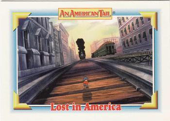 1991 Impel An American Tail Fievel Goes West #119 Lost in America Front