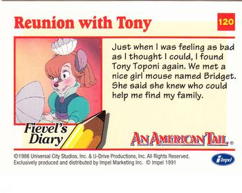 1991 Impel An American Tail Fievel Goes West #120 Reunion with Tony Back