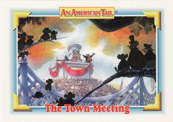 1991 Impel An American Tail Fievel Goes West #123 The Town Meeting Front