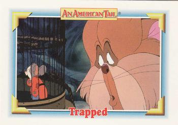 1991 Impel An American Tail Fievel Goes West #127 Trapped Front
