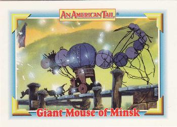 1991 Impel An American Tail Fievel Goes West #130 Giant Mouse of Minsk Front