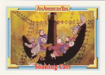 1991 Impel An American Tail Fievel Goes West #131 Soaking Cats Front