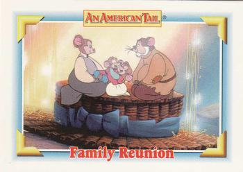 1991 Impel An American Tail Fievel Goes West #132 Family Reunion Front