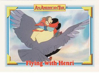 1991 Impel An American Tail Fievel Goes West #133 Flying with Henri Front